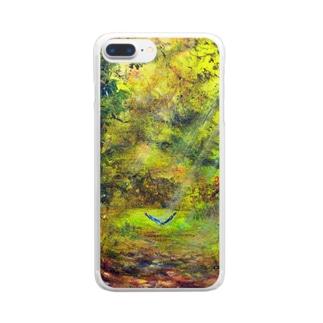 ムラナギ/懐かしい道 Clear smartphone cases