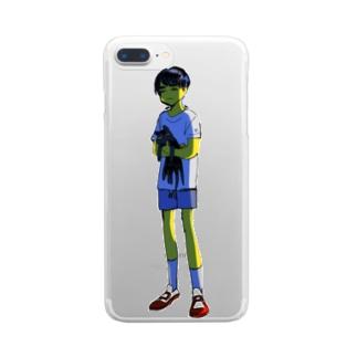 地球外生命体みたいでかわいいね Clear smartphone cases