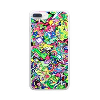 ミクロ Clear smartphone cases
