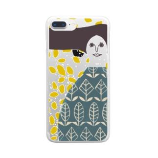 マッシュ婦人 Clear smartphone cases