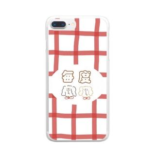 毎度のワンコ Clear smartphone cases