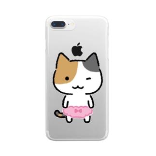 みけぱん Clear smartphone cases