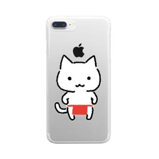 ねこふんどし Clear smartphone cases
