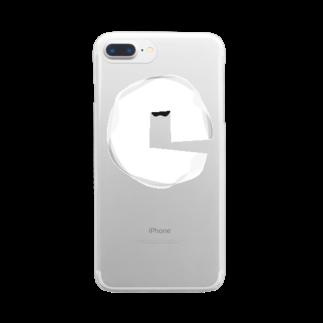 超水道の超水道シンロゴ・ホワイト Clear smartphone cases
