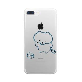 あらいぐま 箱 Clear smartphone cases
