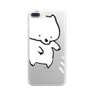 あらいぐま ポイステ Clear smartphone cases
