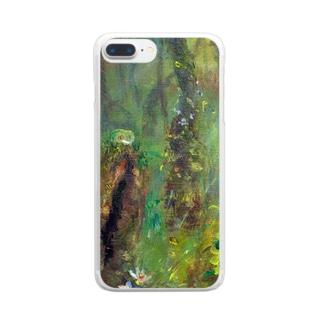 ムラナギ/ムーンドロップのカエル Clear smartphone cases