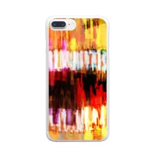 笑顔くんver.1.2.69 Clear smartphone cases