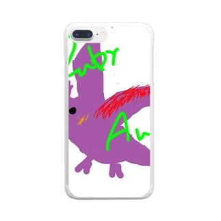 絵心(泣)鳥 Clear smartphone cases