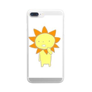サンサン太陽ぼうや Clear smartphone cases