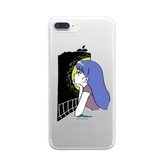 たそがれ・白 Clear smartphone cases