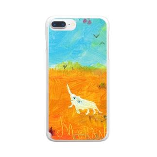 ムラナギ/ムーンドロップ Clear smartphone cases