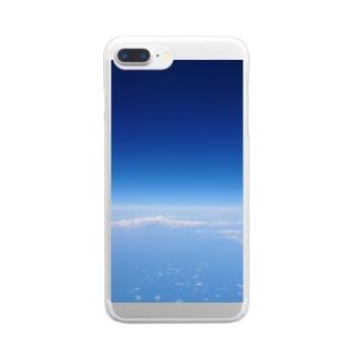 空の上から Clear smartphone cases