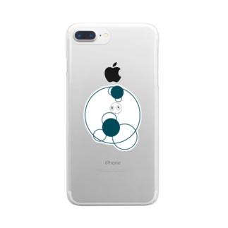 shirotaro-サークル- Clear smartphone cases