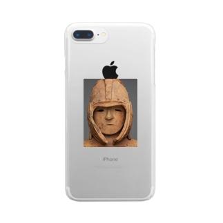 武人埴輪 Clear smartphone cases