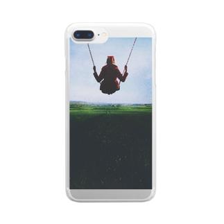 空中ブランコ Clear smartphone cases