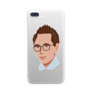 メガネのおじさん Clear smartphone cases