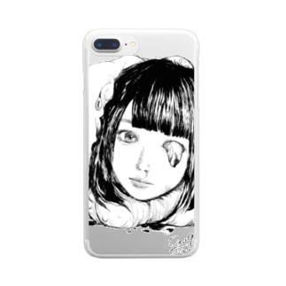 生首少女シリーズ、まうまう Clear smartphone cases