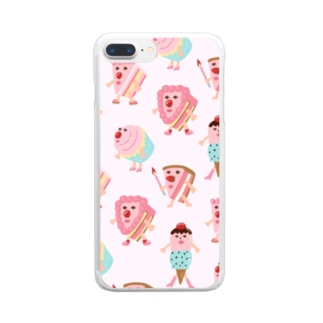 CAKEちゃんズ Clear smartphone cases