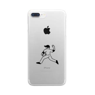 野球少年B Clear smartphone cases