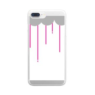 nyoroの雨の日 Clear smartphone cases