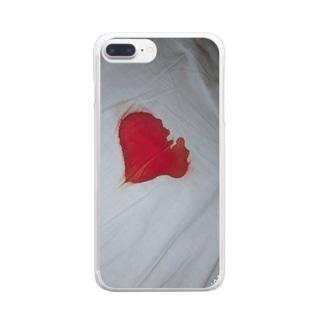流血沙汰 Clear smartphone cases
