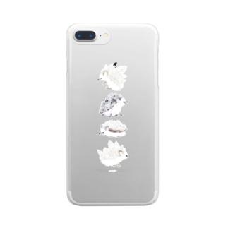 鉱石ねずみ Clear smartphone cases