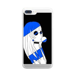 怪しいおんな Clear smartphone cases