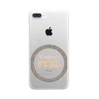 仕事の燃料 Clear smartphone cases