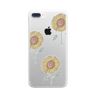 片手に太陽を。 Clear smartphone cases