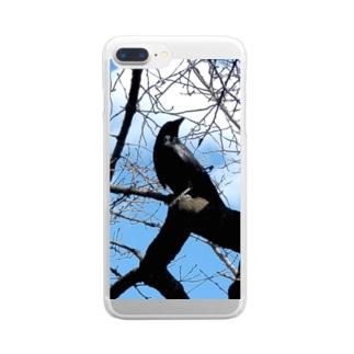 カラス Clear smartphone cases