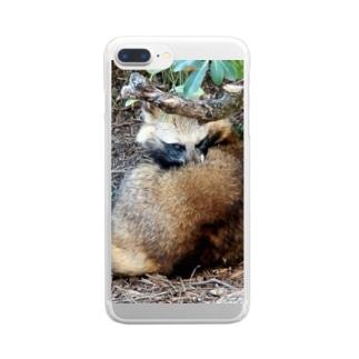 ホンドタヌキ Clear smartphone cases