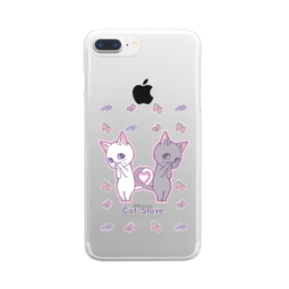 Cat Slave Clear smartphone cases