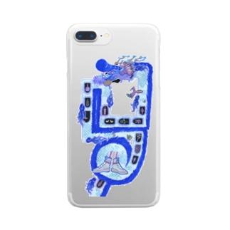 ビジュアルヤバい龍♪ Clear smartphone cases