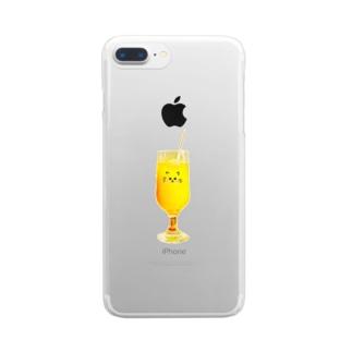 ❃ミックスジュース❃ Clear smartphone cases
