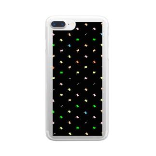 旗とライフル Clear smartphone cases