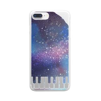 夢のピアノさん Clear smartphone cases