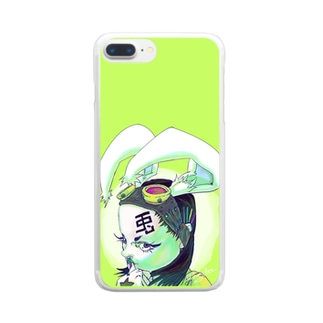 Rabbit Girl Clear smartphone cases