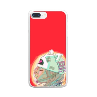Cat Gril Clear smartphone cases