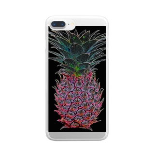 colorful ananas Clear smartphone cases
