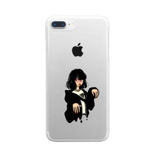そろそろどろんちゃん Clear smartphone cases
