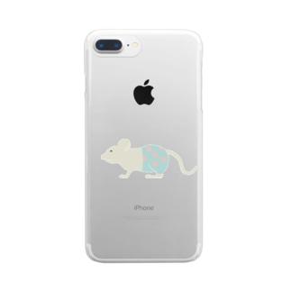 水玉パンツはいてるっチュウの Clear smartphone cases