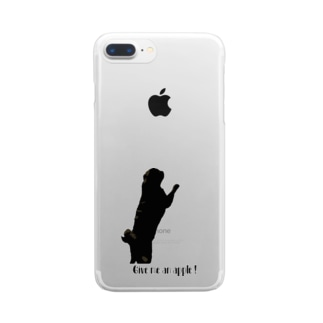 Give me an apple!❷ Clear smartphone cases
