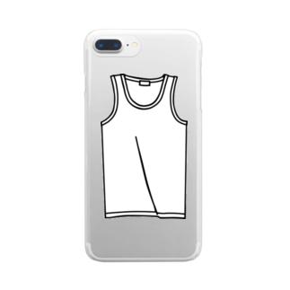 タンクトップ Clear smartphone cases