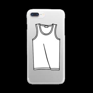 犬田猫三郎のタンクトップ Clear smartphone cases