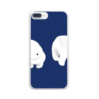 不思議なワンちゃん Clear smartphone cases