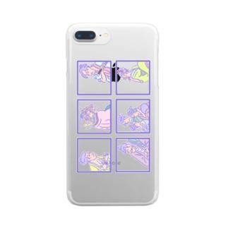 ゆめかわ浮世絵『ごちゃまぜ』 Clear smartphone cases