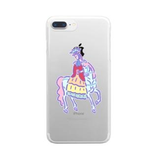 ゆめかわ浮世絵『フランス人』 Clear smartphone cases