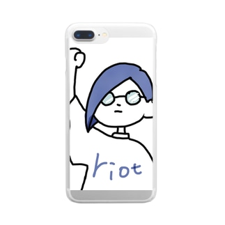 riotくん Clear smartphone cases