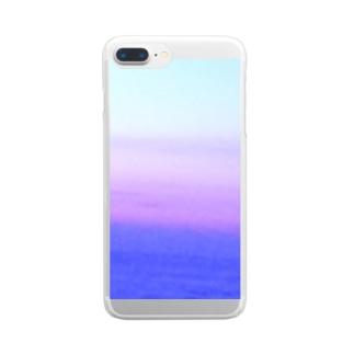 グラデ夕空 Clear smartphone cases